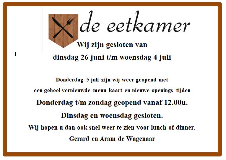 Eetkamer Wernhout. De Huiskamer Wernhout Catering De Eetkamer ...